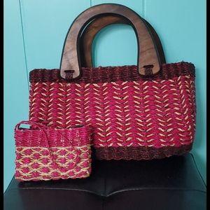 Handmade Handbag with Coin  Purse